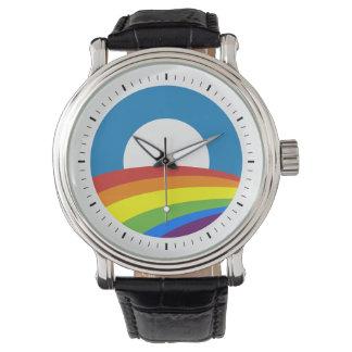 De vrolijke Regenboog Obama van de Trots Horloges