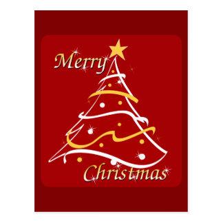 De vrolijke Rode Boom van Kerstmis Briefkaart