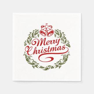 De vrolijke Servetten van Kerstmis Papieren Servetten