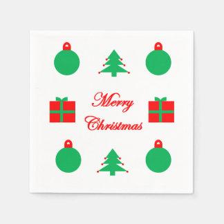 De vrolijke Servetten van Kerstmis Wegwerp Servetten