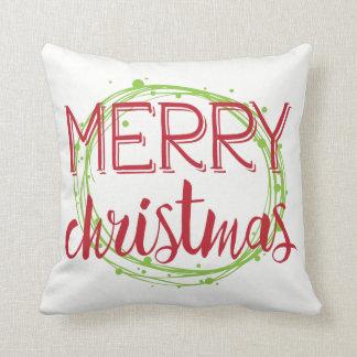 De vrolijke Sneeuw van Kerstmis borrelt Vakantie Sierkussen