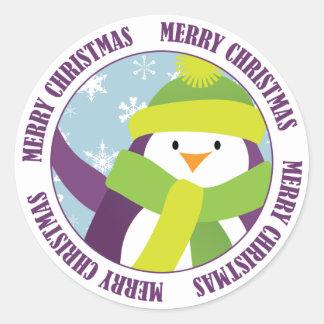 De vrolijke Sticker van de Pinguïn van Kerstmis