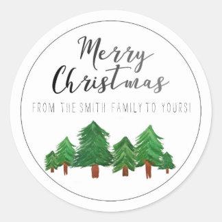 De vrolijke Sticker van Kerstmis