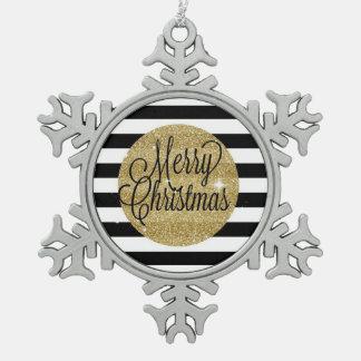 De vrolijke Strepen van Kerstmis & Gouden Ornament