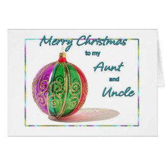 De vrolijke Tante en Oom Multicolored Glass van Kaart
