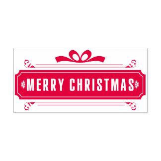 De vrolijke Vakantie van Kerstmis Zelfinktende Stempel