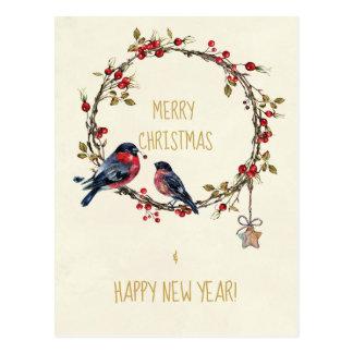 De vrolijke van de de vakantiekaart van Kerstmis Briefkaart