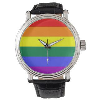 De vrolijke Vlag van de Regenboog van de Trots Horloges
