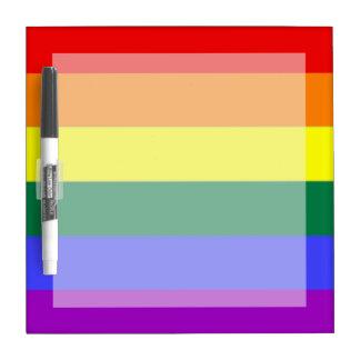 De vrolijke Vlag van de Regenboog van de Trots Whiteboards