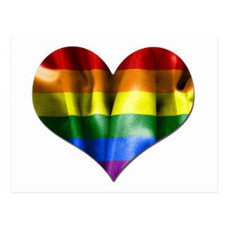 De vrolijke Vlag van het Hart van de Liefde van de Briefkaart