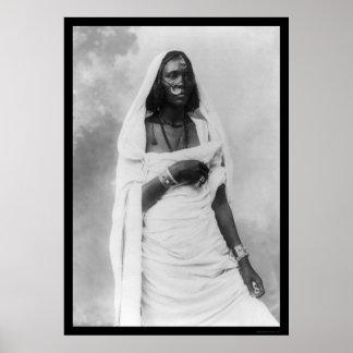 De Vrouw Afrika 1920 van Nubian Poster