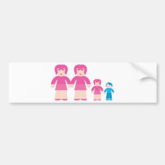 De Vrouw en de kinderen van de vrouw Bumpersticker