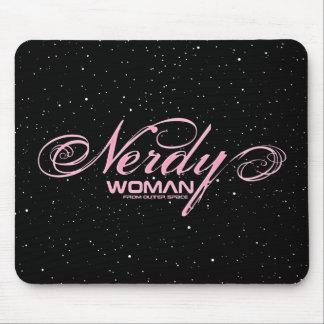 De Vrouw FOS van Nerdy Muismatten