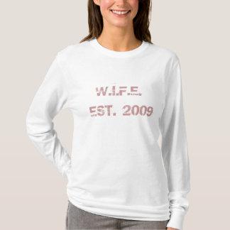 De VROUW Gevestigde T-shirt van Vrouwen