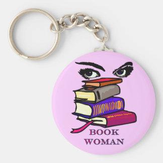 De Vrouw Keychain van het boek Basic Ronde Button Sleutelhanger