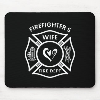De Vrouw van brandbestrijders Muismatten