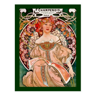 De Vrouw van Champagne - F. Champenois Imprimeur Briefkaart