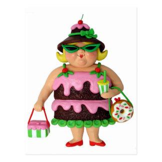 De Vrouw van de cake Briefkaart