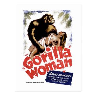 De vrouw van de Gorilla Briefkaart
