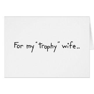 """De Vrouw van de """"trofee"""" Briefkaarten 0"""