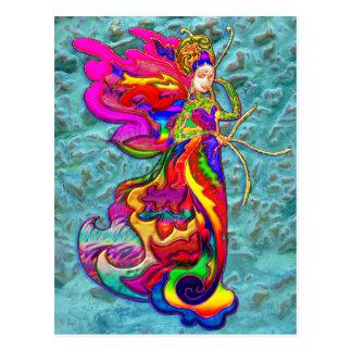 De Vrouw van de Vlinder van China Briefkaart