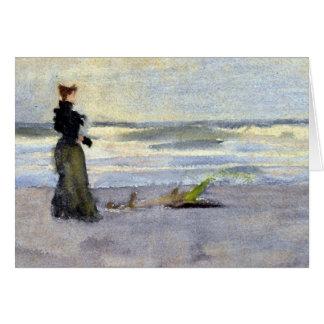 De Vrouw van Edwardian op Strand Kaart