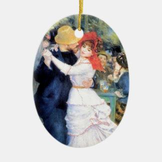 De vrouw van het man het dansen renoir het keramisch ovaal ornament
