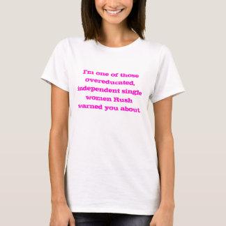 De Vrouw van Overeducated T Shirt