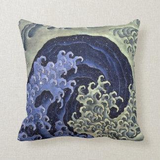 De Vrouwelijke Golf van Hokusai Sierkussen