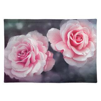De vrouwelijke Roze BloemenFoto van Rozen Placemat