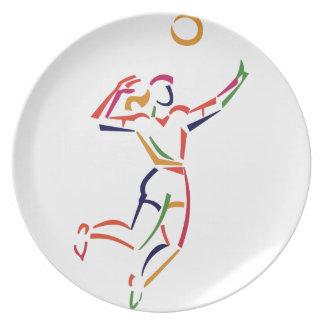 De vrouwelijke Speler van het Volleyball Melamine+bord