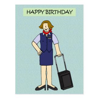 De vrouwelijke Verjaardag van de bemanning van de Briefkaart