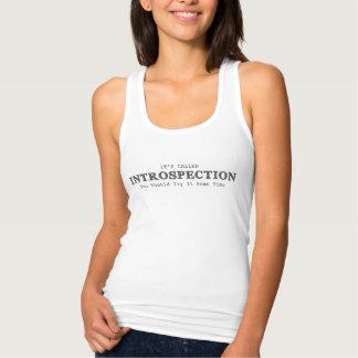 De vrouwen heeft het het Wit van de Introspectie Tanktop
