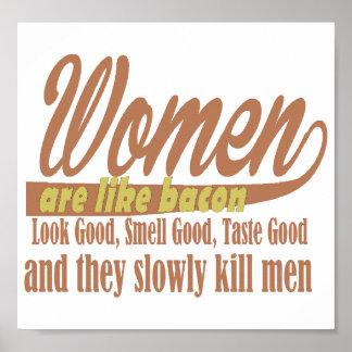 De vrouwen houden van bacon poster