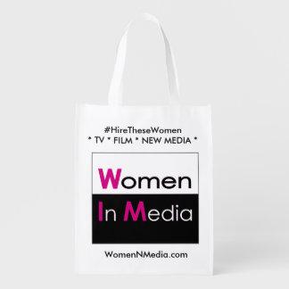 De vrouwen in Media EZ vouwen het winkelen zak - Boodschappentas