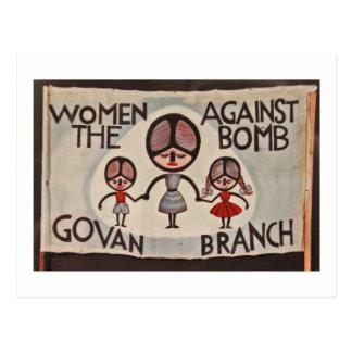 De Vrouwen van Glasgow Govan tegen de Bom Briefkaart