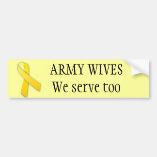 De vrouwen van het leger dienen ook bumpersticker