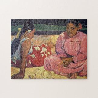 De Vrouwen van Tahitian op het Strand - Paul Legpuzzel