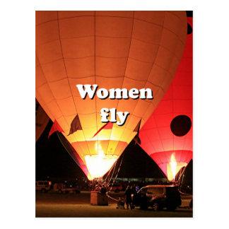 De vrouwen vliegen: hete luchtballon 2 briefkaart