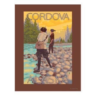 De vrouwen vliegen Visserij - Cordova, Alaska Briefkaart