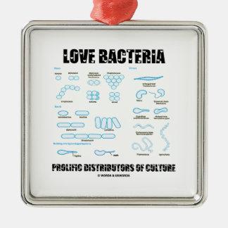 De Vruchtbare Verdelers van de Bacteriën van de Zilverkleurig Vierkant Ornament