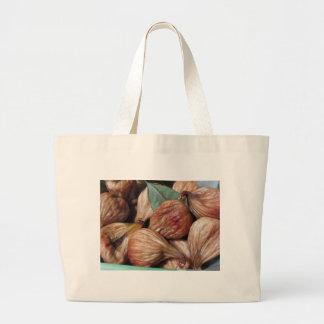 De vruchten van de herfst. Close-up van droge fig. Grote Draagtas