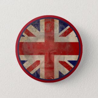 De vuile Britse Knoop van de Vlag met Koningin Ronde Button 5,7 Cm