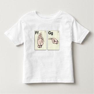 De vuile Kaarten van de Flits van de Gebarentaal Kinder Shirts