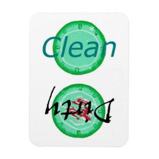 De vuile Schone Groene Magneten van de