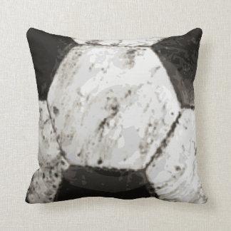 De vuile Textuur van de Bal van het Voetbal Sierkussen