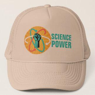 De Vuist van de Macht van de wetenschap & Retro Trucker Pet