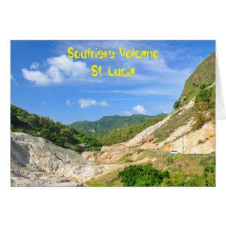 De Vulkaan van Soufriere in St. Lucia Wenskaart