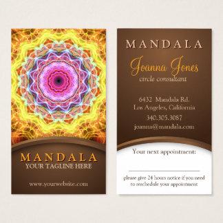 De vurige Holistic benoeming Mandala van de Visitekaartjes