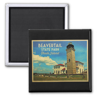 De Vuurtoren Rhode Island van Beavertail Magneet